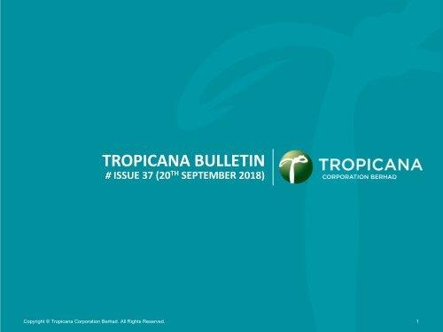 Tropicana Bulletin Issue 37