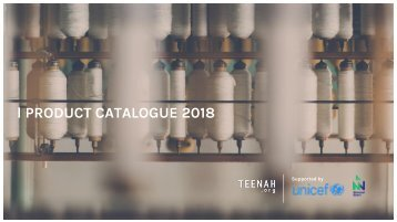 Product Catalogue TEENAH 2018