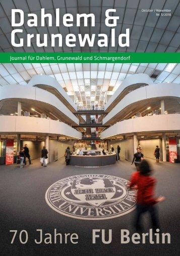 Dahlem & Grunewald Journal Okt/Nov 2018