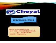 The Best Oracle DBA Online Training Institute - Cheyat Technologies