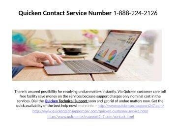 Quicken contact Service Number    1-888-224-2126