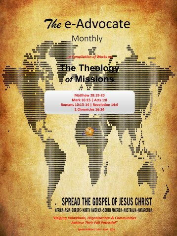 The Theology of Missions