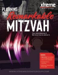 Xtreme Event Group | Planning the Remarkable Mitzvah