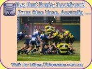 Shop Rugby Scoreboard at low cost price from Blue Vane, Australia