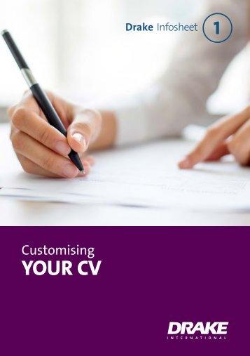Customising Your CV