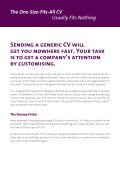 Customising Your CV  - Page 2