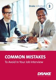 Common Mistakes To Avoid In Your Job Interview UK
