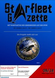 Starfleet-Gazette, Ausgabe 062 (August 2018)