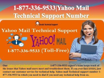 Call Now Yahoo Problem Support Number 1-877-336-9533