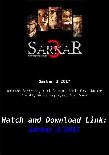 Streaming Hindie Movie Sarkar 3 2017 Download Online Full Free