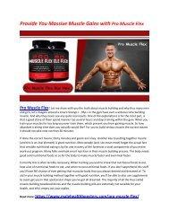 Pro Muscle Flex: Increase Your Motivation Level