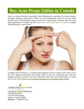 Buy Acne Drugs Online in Canada