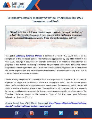 Veterinary Software Industry Overview By Applications 2025  Investment and Profit