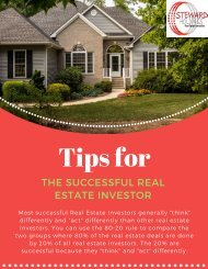 Helpful Tips to Become The Successful Real Estate Investor