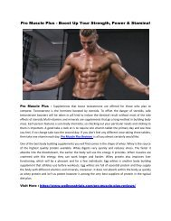 Pro Muscle Plus - Supercharge Your Stamina & Get Impressive Physique!