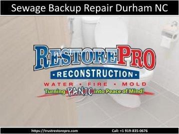 Sewage Backup Repair Durham NC