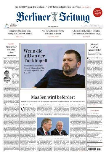 Berliner Zeitung 19.09.2018