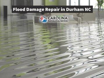 Flood Damage Repair in Durham NC