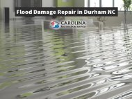 Flood Damage Repair in Durham NC