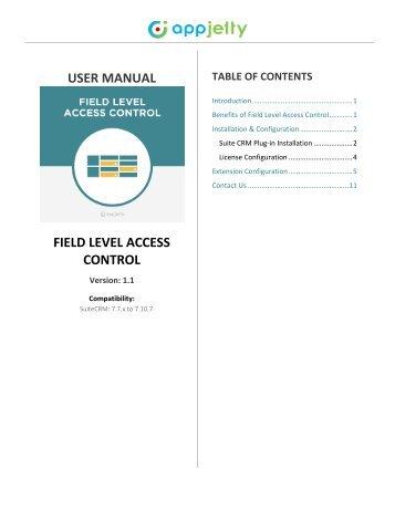 SuiteCRM Field Level Access Control Plugin