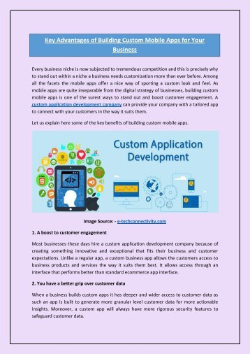 Key Advantages of Building Custom Mobile Apps for Your Business