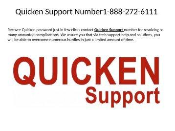 Quicken Customer Support 1-888-272-6111