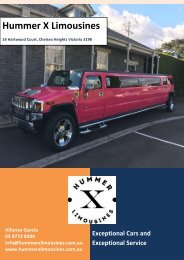How To Get The Best Limo Hire Deal - Hummer X Limousines