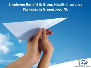 Employee Benefit & Group Health Insurance Packages in Greensboro NC