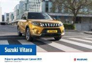 SuzukiV itara specificatieprijslijst