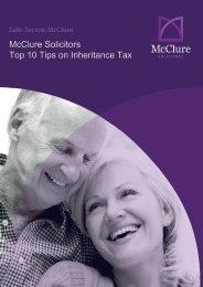 McClure Solicitors Top Ten Tips on Inheritance Tax