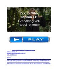 11x1 Doctor Who  Promo