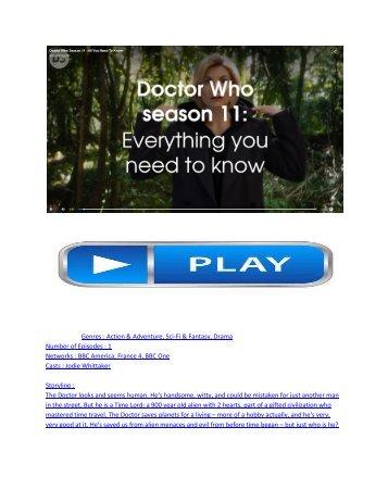 "(HD)Doctor Who 11x1 Promo ""The Time Warrior"" Season 11 Episode 1"