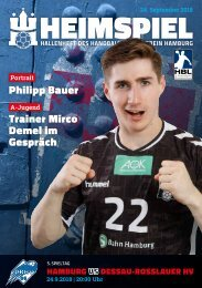 Hallenheft | Handball Sport Verein Hamburg – Dessau-Roßlauer HV