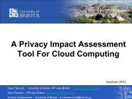 A Privacy Impact Assessment Tool For Cloud Computing