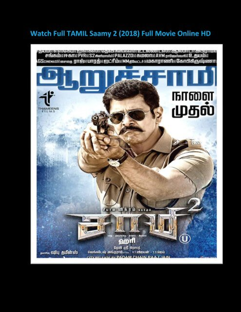 123movies Hd Watch Saamy 2 Full Movie 2018 Streaming Online