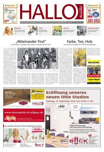 Hallo-Allgäu Kaufbeuren, Ostallgäu vom Samstag, 22.September