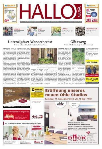 Hallo-Allgäu Memmingen vom Samstag, 22.September