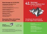 2018 Kelterfest Flyer Außenseiten