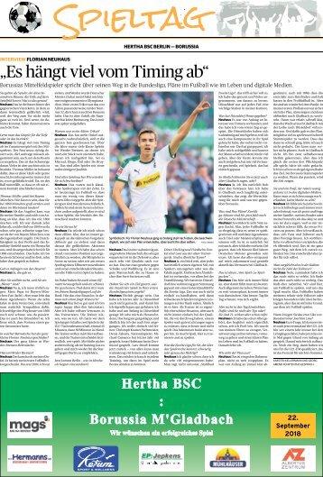Spieltag: Hertha BSC Berlin - Borussia  -22.09.2018-