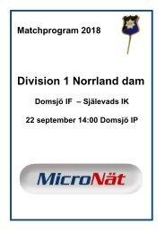 Matchprogram_2018_DomsjöIF-Själevads IK