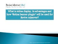 How retina banner plugin will be used for revive adserver