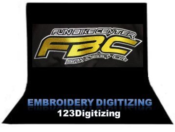 Top Quality Embroidery Digitizing Service by 123Digitizing