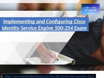 Free Cisco 500-254 Exam Study Material | Dumps4download.co.in