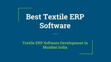 Best Textile ERP Software