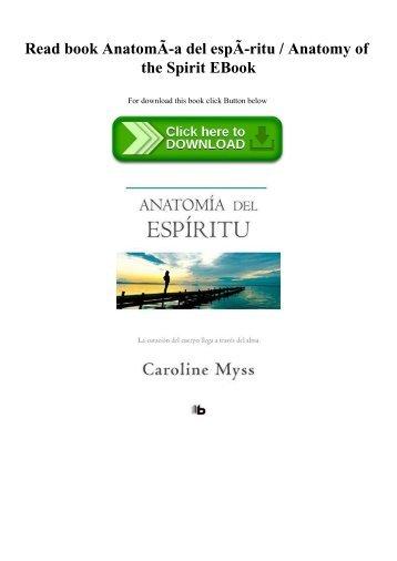 Anatomy Of The Spirit Ebook