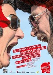 Programmheft der Lesbisch Schwule Filmtage Hamburg 2018