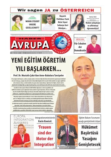 EUROPA JOURNAL - HABER AVRUPA SEPTEMBER 2018