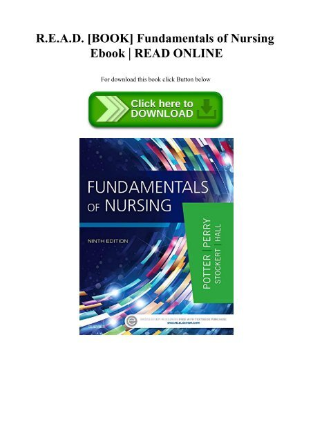 Fundamentals Of Nursing Ebook