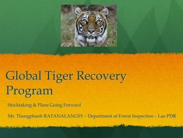 Reporting PIAs 2011, Planning PIAs 2012-13 - Global Tiger Initiative