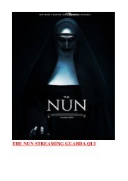 THE NUN LA VOCAZIONE DEL MALE ALTADEFINIZIONE STREAMING